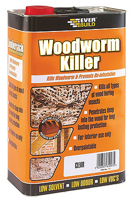 EVERBUILD LUMBERJACK WOODWORM KILLER Wood Treatment 5 Liter Kills Insects 5L