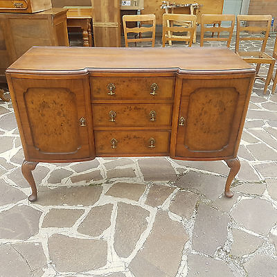 Nice Sideboard With Victorian Style Moved Legs Walnut Veneered 1900