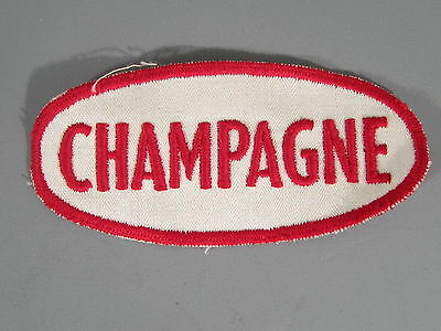 Champagne Gasoline Patch / New Old Stock of Closed Embroidery Company /FREE Ship