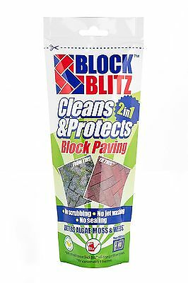 Block Blitz Block Paving, Path, Patio Cleaning Treatment Cleans & Protects 30sqm