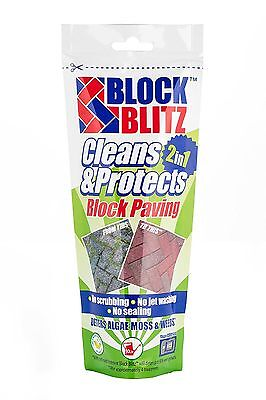 Block Blitz Block Paving, Path, Patio Cleaning Treatment Cleans & Protects 45sqm