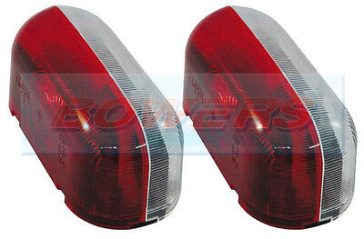 2x JOKON SPL2000 RED WHITE CLEAR SIDE MARKER LAMPS LIGHTS CARAVAN FIAT MOTORHOME