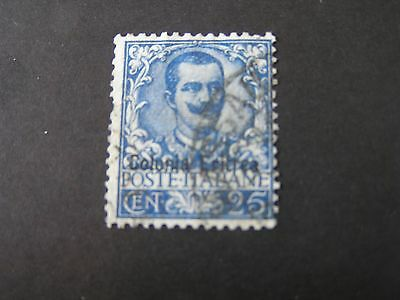 *ERITREA, SCOTT # 24,  25c VALUE 1903-28 ITALY STAMPS OVPT KING HUMBERT I USED