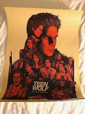 SDCC COMIC CON 2017 FOX TEEN WOLF Exclusive POSTER