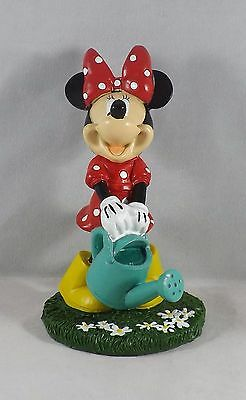 "DIG 6.5"" Disney Minnie Mouse with Watering Can Resin Garden Statue  - New"