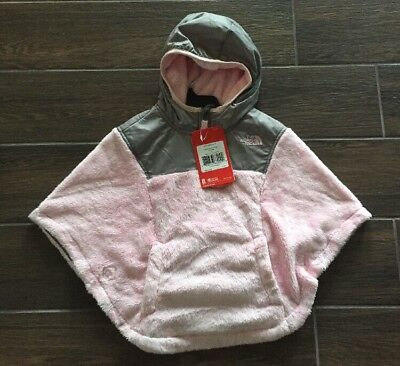 The North Face Toddler Girl Todd G OSO Poncho Coy Pink/ Silver  Size 2T NWT $70