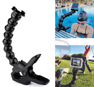 Jaws Flex Clamp Mount + Adjustable Neck for GoPro Hero 7 6 5 4 Session Accessory