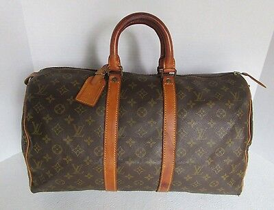 Louis Vuitton Monogram Keepall 45 Travel Bag Duffle Bag S.d.