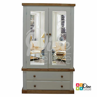 Hand Made Dewsbury Country Double Mirrored Wardrobe(Assembled)
