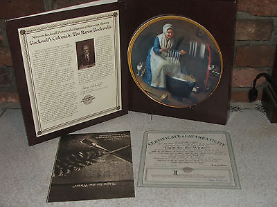 """1987 The Rarest Rockwells Series """"Light for the Winter"""" Plate Number 14517A"""
