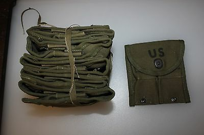 10 US Military Issue M1 Garand M1 Carbine Magazine Belt Pouch New Old Stock 10