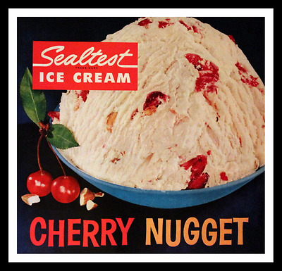 1960 Sealtest Cherry Nugget Ice Cream Ad - Cherry Nut - Vintage Advertising Page