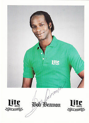 Bob Beamon -  US Olympian -  autographed Miller Lite promotion