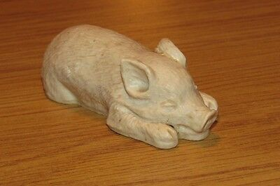 Cute Laying Down Pig Figurine Made in Mexico