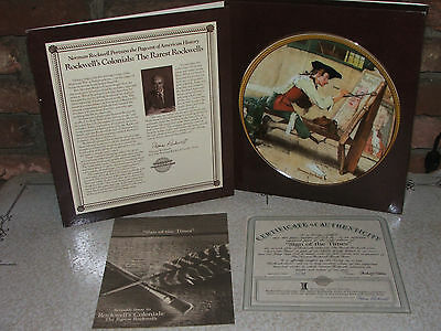 """1988 The Rarest Rockwells Series """"Sign of the Times"""" Plate Number 10159A"""