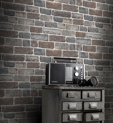 NEW Rasch Urban Stone Brick Wallpaper  217339