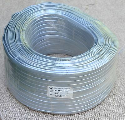 new old stock nos 500 feet 8C flat telephone extension wire gray spool SPC tech