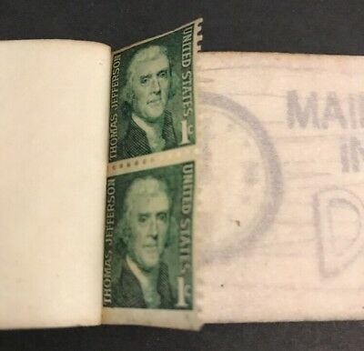 One Cent Jefferson Stamp lot of two