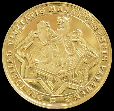 1607 - 1957 Gold Germany Mannheim 350Th Anniversary Commemorative Proof Medal