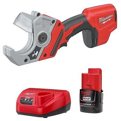 Milwaukee 2470-20 M12 Cordless VSR PVC Pipe Shear Cutter + Battery + Charger