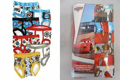 DISNEY CARS 7-pack Toddler Boys Briefs Sizes 2T/3T, 4T NEW UNDERWEAR