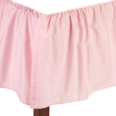 American Baby Company 100 Cotton Percale Ruffled Crib Skirt Pink TL Care