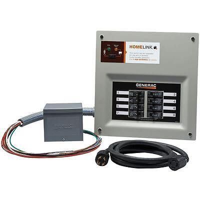 Generac HomeLink Prewired Manual Transfer Switch Kit 30 Amps 8 Circuit Resin Box