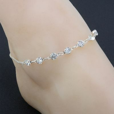 Gift Rhinestones Crystal Chain Barefoot Ankle Anklet Beach Sandal Jewelry