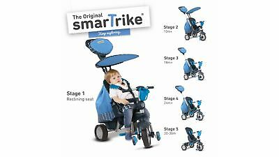SmarTrike Tricycle Designed to Grow in Four Stages-Ages 10-36 months-Splash Blue