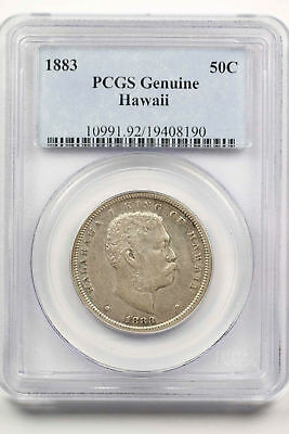1883 Kingdom of Hawaii Silver Half Dollar PCGS Genuine -91844