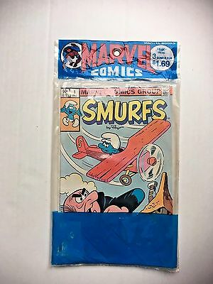 Vintage Sealed 3 -1 Marvel Value Pack Of Smurf Comic Books Smurfs