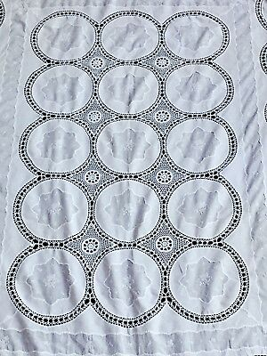 Antique WHITE Lace Tablecloth Vintage Crochet Lots listed