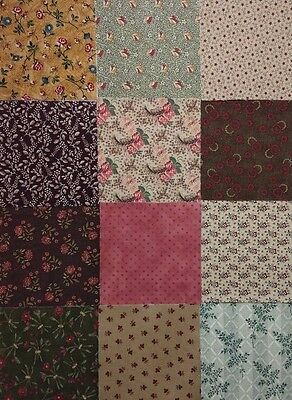 "100 pk.Cotton Quilting Fabric Scrap Charm pack 5"" squares"