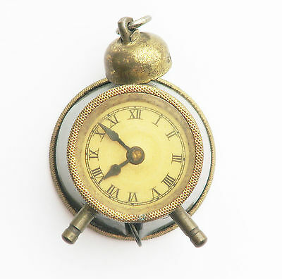 Antique Vintage German Alarm Clock Sewing Tape Measure