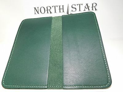 North Star Green Leather Standard Checkbook Cover-First Quality-Made In USA-132