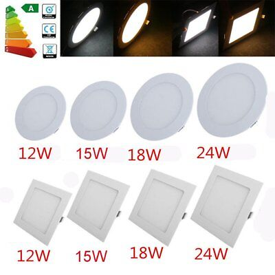 Dimmable Epistar Recessed LED Panel Light 12W 15W 18W 24W Ceiling Down Lights EK
