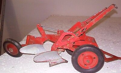 Two Bottom Plow, International Harvester,Vintage toy Farm Implement   1950s