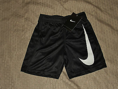 Nike Dir-Fit Boys Black/white Shorts Size 4,5, Or 6 Nwts