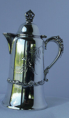 Silver Plate Syrup Pitcher  Warren Silver Plate  #851