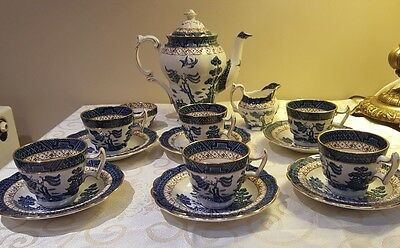 Antique Booths Real Old Willow Tea Set 15 pieces