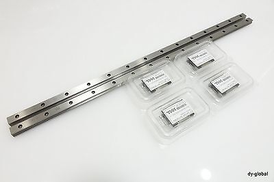 THK SRS15M+550mm Miniature Caged Linear Bearing PRELOAD CNC Router 2Rail 4Blocks