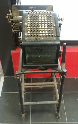 Burroughs comptometer adding Machine & Stand