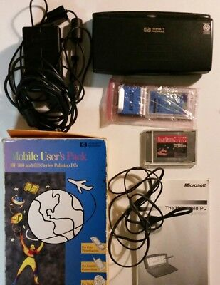 HP 660LX PalmTop Handheld Computer Windows CE Bundle discs books VGA card works