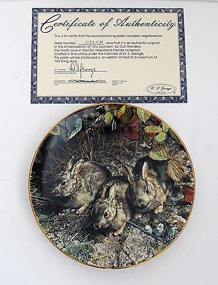 1990 In Limited Edition Porcelain Plate-Shy Explorers-Signed-Numbered