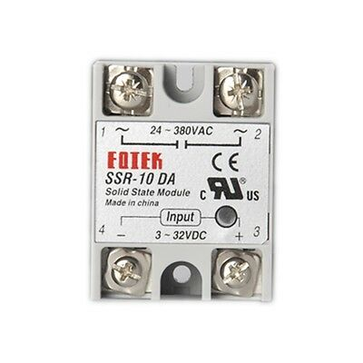 1pc Solid State Relay SSR-10DA 10A 3-32VDC/24-380VAC DC TO AC