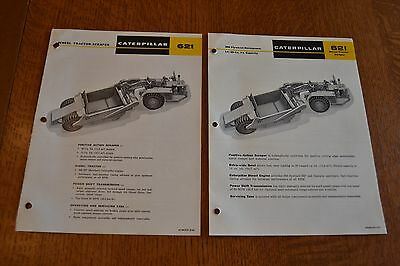 vintage 1965 &67 Caterpillar heavy equipment color brochures 621 Tractor Scraper