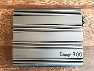 Becker Energy 300 Amplifier RARE 1 owner excellent 4-Channel 280 watts