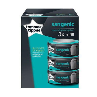 Tommee Tippee Sangenic Nappy Disposal Refill Cassette - 3 Pack