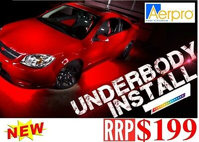"Aerpro LU36R 2 X 36"" OUTDOOR / UNDER CAR NEON RED 12V WATER RESISTANT CONTROL"