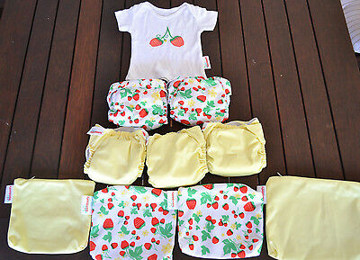 NEW 5 x Bambooty All in One Easy Dry Modern Cloth Nappy, Reusable, Eco, Newborn,